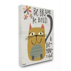 Stupell Industries Be Beautiful Kitty Canvas Wall Art