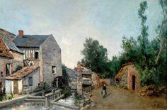 Ventes aux enchères Paris Paul-Emmanuel PERAIRE (1829-1893) Le moulin ...