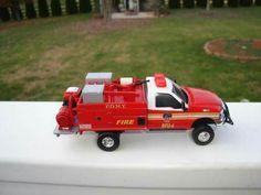 Custom 1/64 Scale Ford F-350 F.D.N.Y. Brush Fire Unit 4 Mini Pumper
