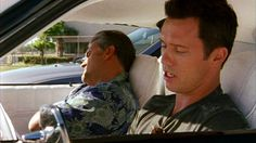 """""""Mike, please tell me this means I can go back to sleep alone in my own bed."""" [Sam Axe] """"Is that how you celebrate these days, Sam? Say it ain't so."""" [Michael Westen] Pictured: Michael Westen (Jeffrey Donovan) and Sam Axe (Bruce Campbell)"""
