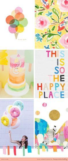 love print studio blog: COLOUR CRUSH mood board, color palette