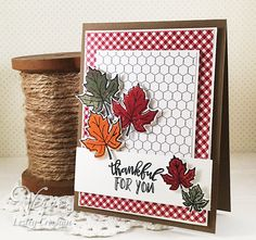 Welcome to Verve's October Mini Release Spotlight Hop! There's something new in the Verve shop today, and we're celebrating with a bl. Handmade Thank You Cards, Greeting Cards Handmade, Christmas Fun, Christmas Cards, Spring Song, Leaf Cards, Thanksgiving Cards, Christmas Settings, Get Well Cards