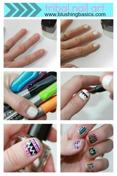 not so great with nail art? here's your solution. #blushingbasics
