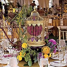 birdcage centerpieces Pictures, Images and Photos