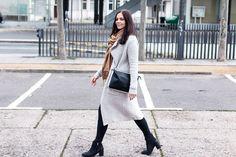 Kleidermaedchen.de, Kleidermaedchen Modeblog, Fashionblog, Influencer, Social Media Influencer, Jessika Weisse, Outfit, Winteroutfit, Streestyle, Topshop Jeans, Zara Cardigan, Ankle Boots Zign, Turtleneck, Bag