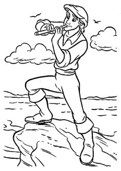 1000 images about coloring pages on pinterest little for Prince eric coloring pages