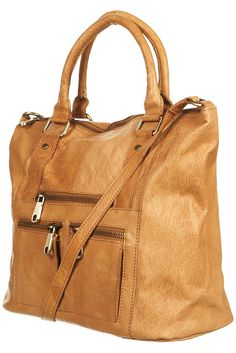 ZIP WASHED LEATHER HOLDALL  Price: $150.00  Color: TAN