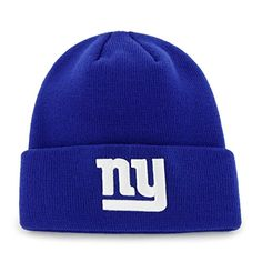 e12fc88f6 New York Giants Raised Cuff Knit Royal 47 Brand Hat - Detroit Game Gear