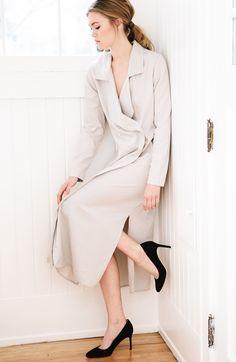 75fb409a8015 HDH FW16 Minimal Fashion, Wrap Dress, Minimalism, Wrap Around Dress,  Minimalist Fashion