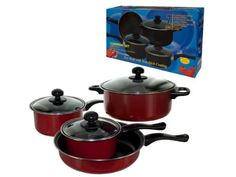 Bulk Buys OC647-1 Stainless Steel Cookware Set, 7 Piece -- You can get additional details at the image link.