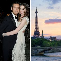Brides.com: . Anne Hathaway & Adam Shulman: Paris, France  Following their late-September 2012 nuptials in California, newlyweds Anne Hathaway and Adam Shulman reportedly flew to the City of Light following a quick trip to London for a quiet honeymoon in October.