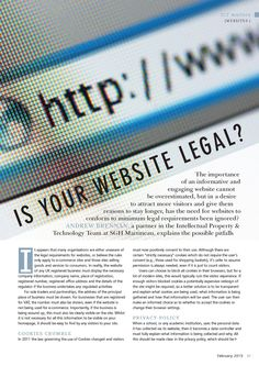 Client: SGH Martineau Outlet: Education Executive Topic: Website Legal (IP) - Part 1