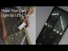 Make your own light up LED canvas! Make your own light up LED canvas! Canvas Projects Diy, Diy Canvas Art, Mini Canvas, Canvas Learning, Christmas Canvas Art, Light Up Canvas, Make Your Own, Make It Yourself, Led Diy