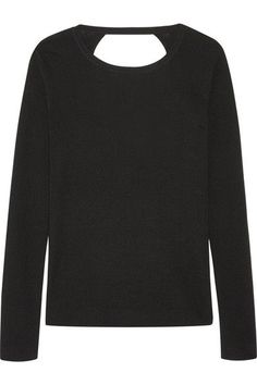 Diane von Furstenberg - Kylee Open-back Merino Wool And Silk-blend Sweater - Black - small