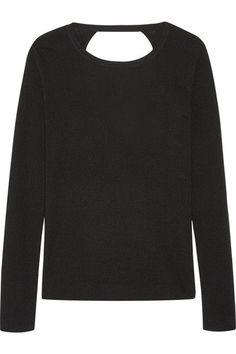 Diane von Furstenberg - Kylee Open-back Merino Wool And Silk-blend Sweater - Black - small