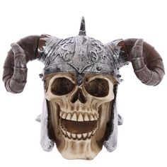 Gothic+Skull+Decoration+wearing+Twisted+Horn+Helmet