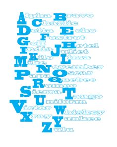 Military Alphabet free Printable