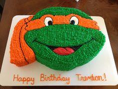 Ninja turtle cake Ninja Party, Ninja Turtle Party, Ninja Turtles, Ninja Turtle Birthday Cake, Turtle Birthday Parties, Birthday Fun, Birthday Cakes, Birthday Ideas, Tmnt Cake