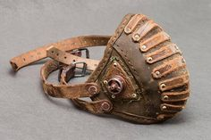 Steampunk - Motorcycle Leather Mask  Post Apocalyptic Rider Mask  Steampunk Gas Mask  Burning Man Mask Respirator  Alternative Clothing  Biker Mask by WastedCouture