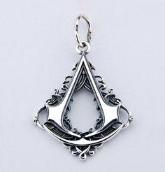 Assassins Creed Connor 925 Silber Anhänger von Hephaestus666