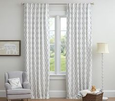We'll need more of these for Posie's new room with bigger windows: Addison Flocked Blackout Panel #pbkids