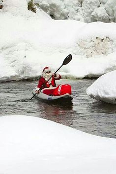 Even the Jolly One paddles