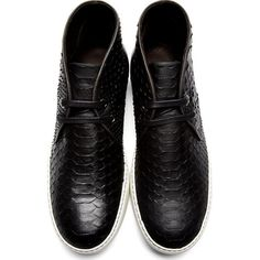 Lanvin Nubuck Python Desert Boots Sneakers in black 895 EUR / $1475, sold out
