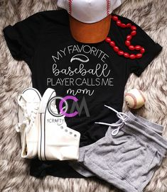 Calls Me Mom MTO Baseball Sister Baseball My Favorite Baseball Player Mommy and Me Mom of Boys Baseball Mom Mommy and Me Shirts