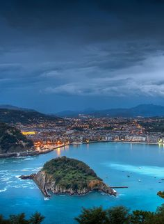 The Beach of La Concha is a beach in the Bay of La Concha in San Sebastián, Spain.