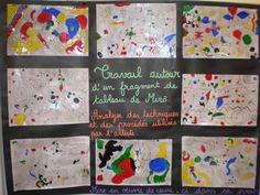 École primaire publique de la Jonchère - Peindre à la manière Joan Miro