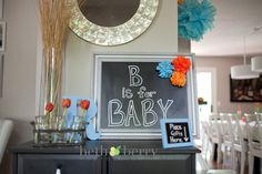 Love the color theme!  This baby shower idea is super cute they did a great job with simple yet elegant decorations.