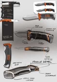 Folding Knife.  My son's Scout knife and a safe well built outdoor knife for him. Bear Grylls knife concept sketches