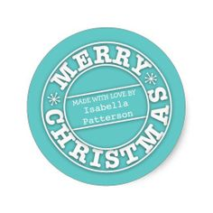 Shop Made with Love From Merry Christmas Sticker created by kat_parrella. Merry Christmas And Happy New Year, Christmas Fun, Holiday Fun, Holiday Essentials, Personalized Ornaments, Christmas Stickers, Happy New Year 2020, Xmas Gifts, Custom Stickers
