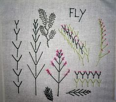 Fly Stitch, I decided that each week i'll just do random stitches on a piece of calico and then make my own book of stitches when there finished. So no pattern or anything , just learning the stitches. Floral Doodle, Embroidery Stitches, Hand Sewing, Needlework, How To Make, Crafts, Fern, Arrow, Blog