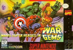 Play Marvel Super Heroes: War of the Gems on SNES (Super Nintendo) Online in your Browser ✅ Enter and Start Playing FREE. Nintendo Games Online, Super Nintendo Games, Classic Video Games, Retro Video Games, Retro Games, Game Boy, Playstation, Infinity Gems, Dream Cast