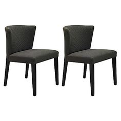 Extend mid-century style to your dining room with the exquisite upholstery of the Rianne Mud Dining Chair (Set of 2) from Iniko.