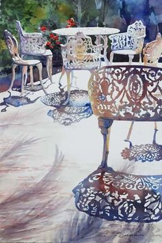 Watercolor | Sue Zimmermann | Shadow Play