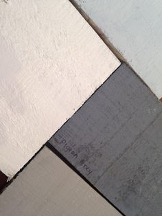Love this colour pallette- Autentico's Cocos, Bleu Gris, Pigeon Grey and Loft