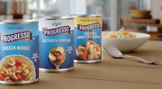 Brand New: New Logo and Packaging for Progresso by Hornall Anderson