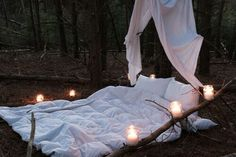 Don't know if i ever would set this up outside but its still warm and cozy