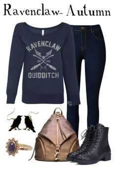 """""""Ravenclaw - Autumn"""" by waywardfandoms ❤ liked on Polyvore 