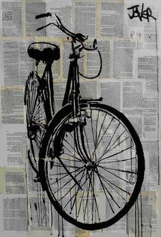 "Saatchi Art Artist Loui Jover; Drawing, ""bike...(SOLD)         "" #art"
