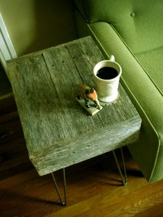 Barnwood side table #lifeinstyle #greenwithenvy