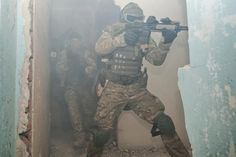 Polish Special Operation Forces AGAT training close quarter combat.