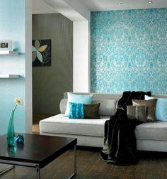 Pale Blue Living Room I Love