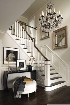 Foyer and staircase, veranda interiors Decor, Home, Foyer Decorating, House Styles, House Design, Veranda Interiors, Interior, House Interior, Home Deco