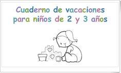 """Buen """"Cuaderno de Vacaciones para niños de 2 y 3 años"""" centrado principalmente en reforzar el aprendizaje de conceptos básicos y en desarrollar la grafomotricidad."""