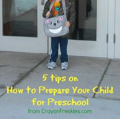 crayonfreckles: 5 tips to help prepare your child for the first day of preschool