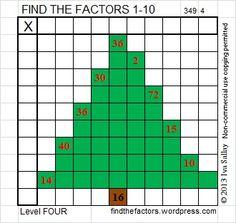Level 4 Christmas Factoring Tree