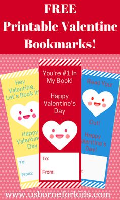 Free printable valentine bookmarks for your child's class! Mix and match 6 different designs. A fun valentine that won't be tossed into the trash!